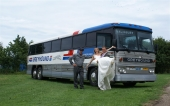 Greyhound Silver trouwbus verhuur